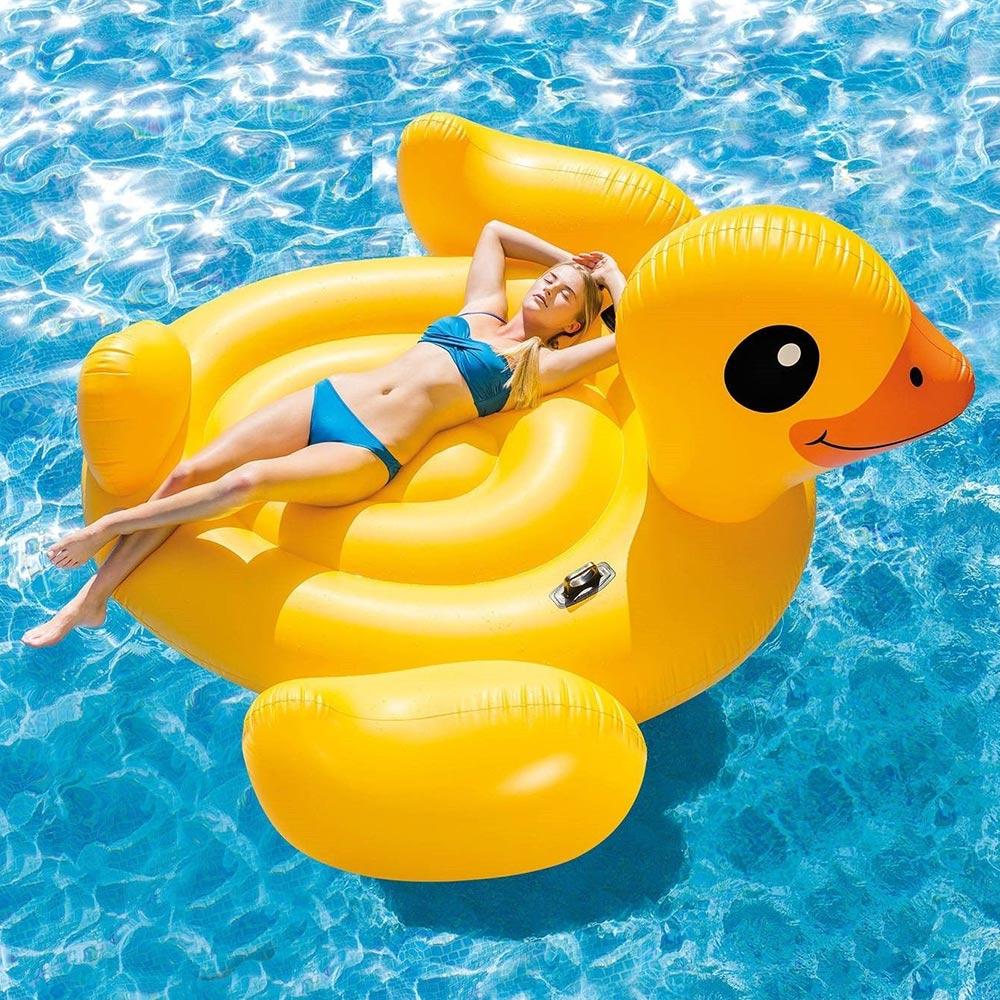 Intex Inflatable Mega Yellow Duck Island Float, ...
