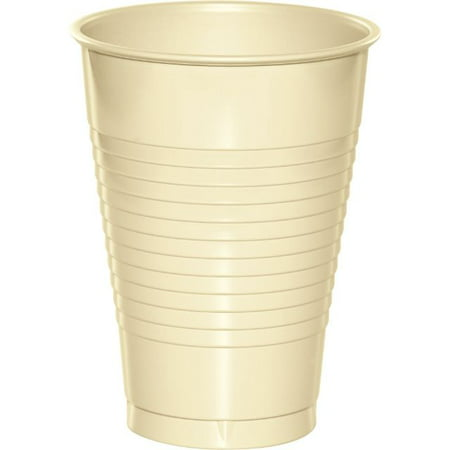 Touch of Color Plastic Cups, 12 Oz, Ivory, 20 - Plastic Cups For Sale