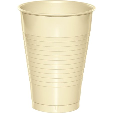 12 Oz Waxed Cold Cup - Touch of Color Plastic Cups, 12 Oz, Ivory, 20 Ct