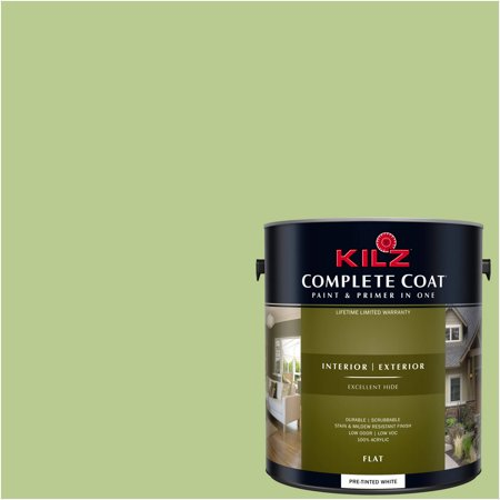 KILZ COMPLETE COAT Interior/Exterior Paint & Primer in One #LG250-01 Succulent (Best Paint For Garden Shed)