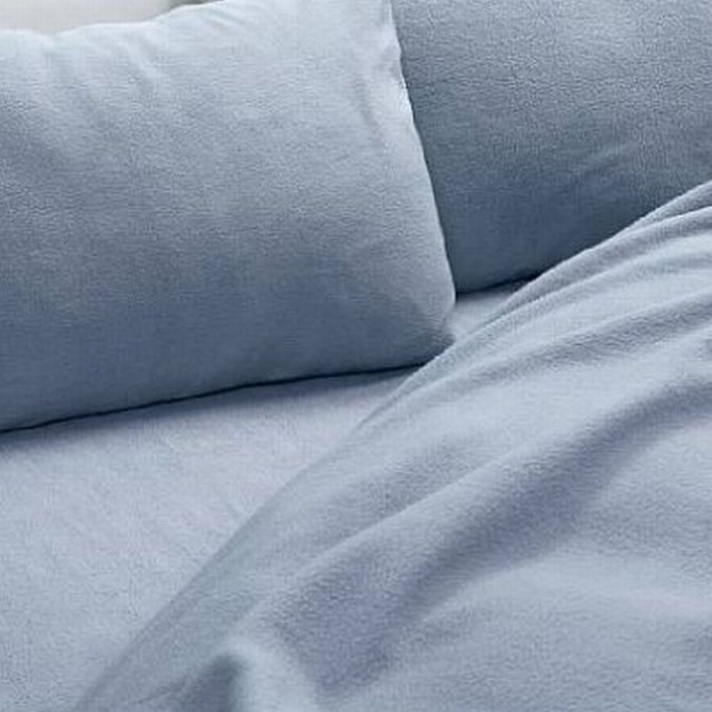 Home Classics Fleece Sheet Set Pretty Blue Twin Bed Size Sheets Bedding