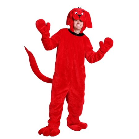 Clifford Big Red Dog Halloween Costumes (Clifford the Big Red Dog Adult)