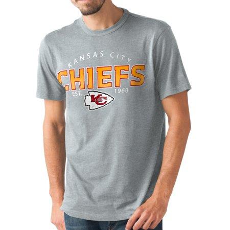 Kansas City Chiefs Nfl G Iii   Playoff   Mens Dual Blend S S T Shirt   Graphite