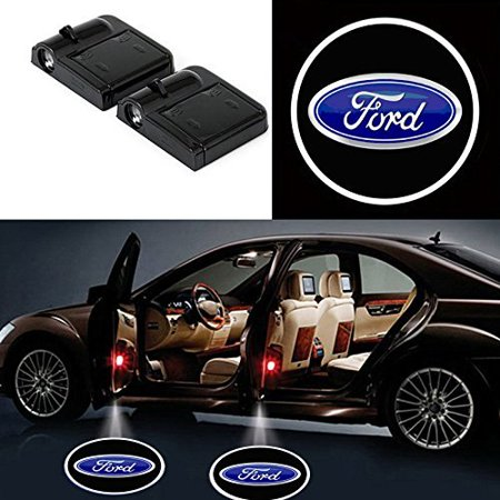 2x LED Car Door Welcome Laser Projector Logo Courtesy Ghost Shadow Light for Ford