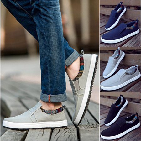 Men Casual boat Canvas Shoes Flat Loafer Fashion