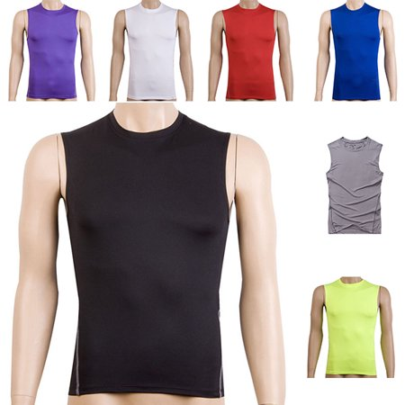 Mens Compression Tights Sleeveless Slimming Shirt Cool Dry Under ... 38d007383