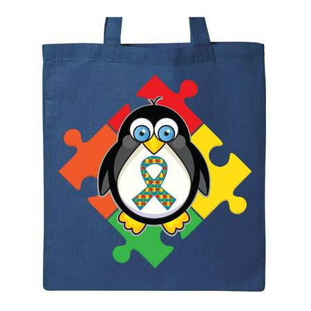 Autism Awareness Month Penguin Tote Bag (Penguin Diaper Bag)