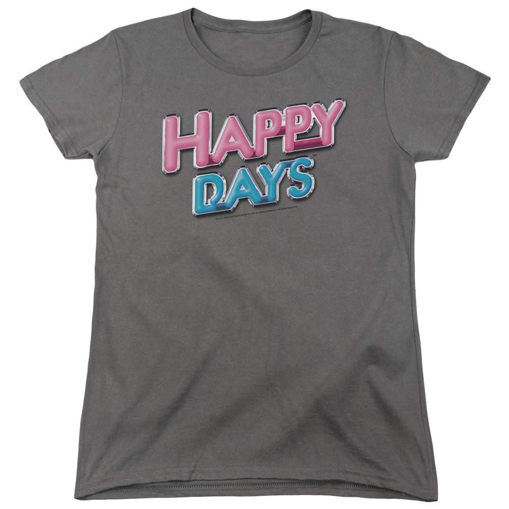 Happy Days Happy Days Logo Womens Short Sleeve Shirt