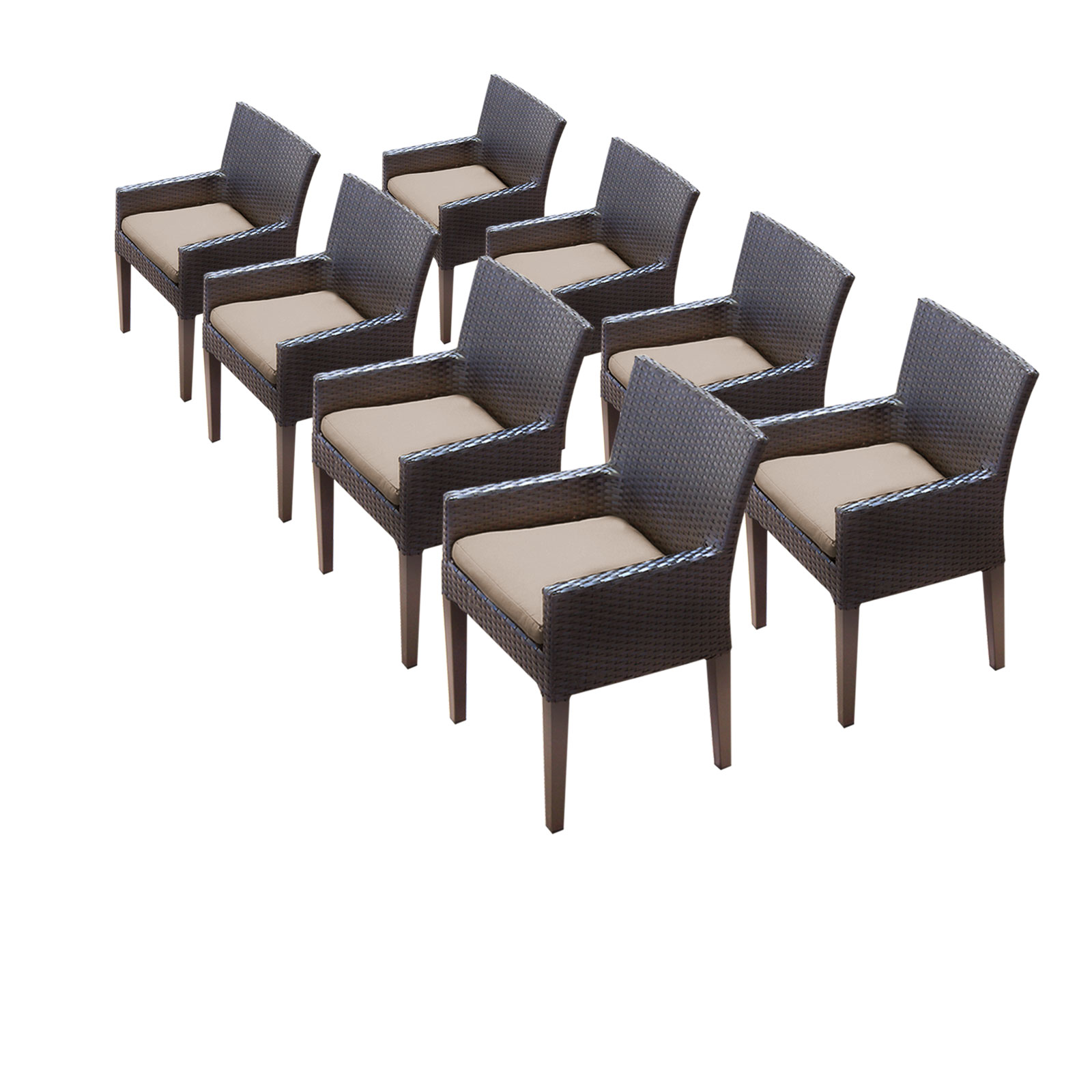 8 Pluto/Saturn Dining Chairs With Arms