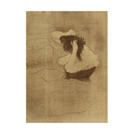 Woman Combing Her Hair - La Coiffure, Plate VII from Elles; Femme Qui Se Peigne - La Coiffure,… Print Wall Art By Henri de Toulouse-Lautrec (Henri Bendel Type)