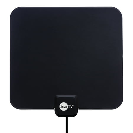Clear TV HDTV Digital Indoor Antenna, Broadcast Network TV in HD (STAND NOT