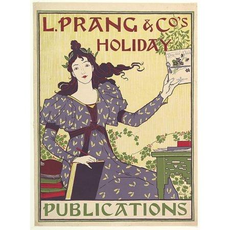 L Prang   Cos Holiday Poster Print By Louis John Rhead  American Born England 1857   1926   18 X 24