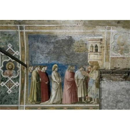 Posterazzi SAL263373 The Virgins Wedding Procession Giotto Di Bondone 1266-1337 Florentine Arena Chapel Cappella Degli Scrovegni - 18 x 24 in.](Wedding Procession)