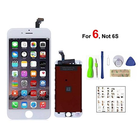 iPhone 6 Lcd Replacement Screen LCD Digitizer Touch Assembly White ()