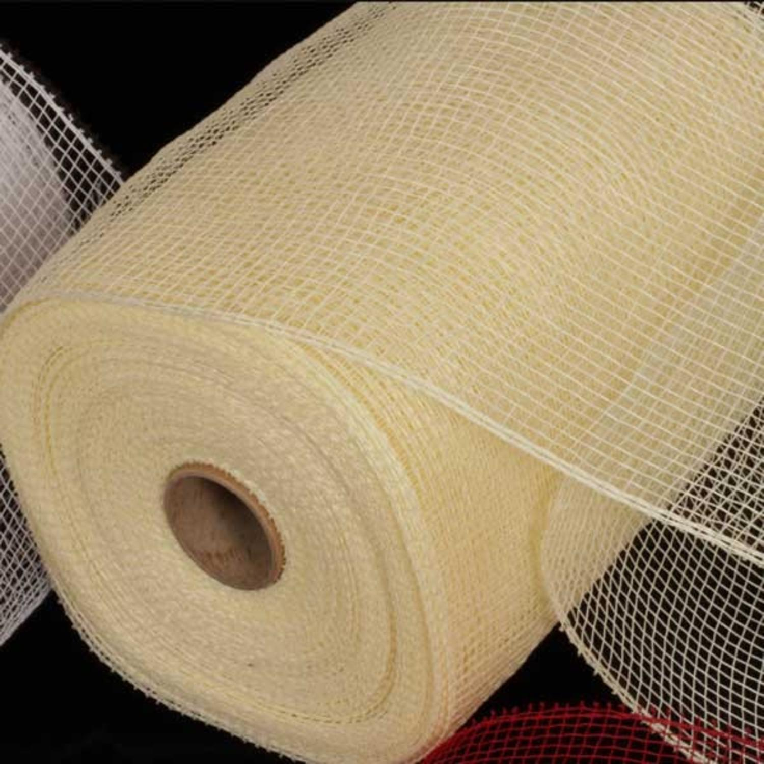 "Cream Deco Mesh Craft Ribbon 6.5"" x 120 Yards"