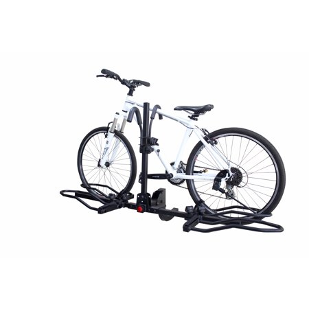 Overdrive Hitch Mounted Platform Bike Rack w/ Tilting For Electric & Fat