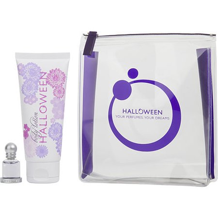 Cute Halloween Bags To Make (HALLOWEEN by Jesus del Pozo - EDT .15 OZ MINI & BODY LOTION 3.4 OZ & COSMETIC BAG -)