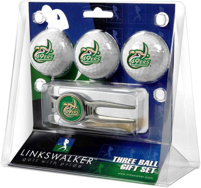 LinksWalker UNC Charlotte 3 Ball Gift Pack With Kool Tool