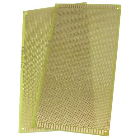 Universal Electronic Parts 130mm x 250mm Copper Panel PCB Circuit Board 2 Pcs