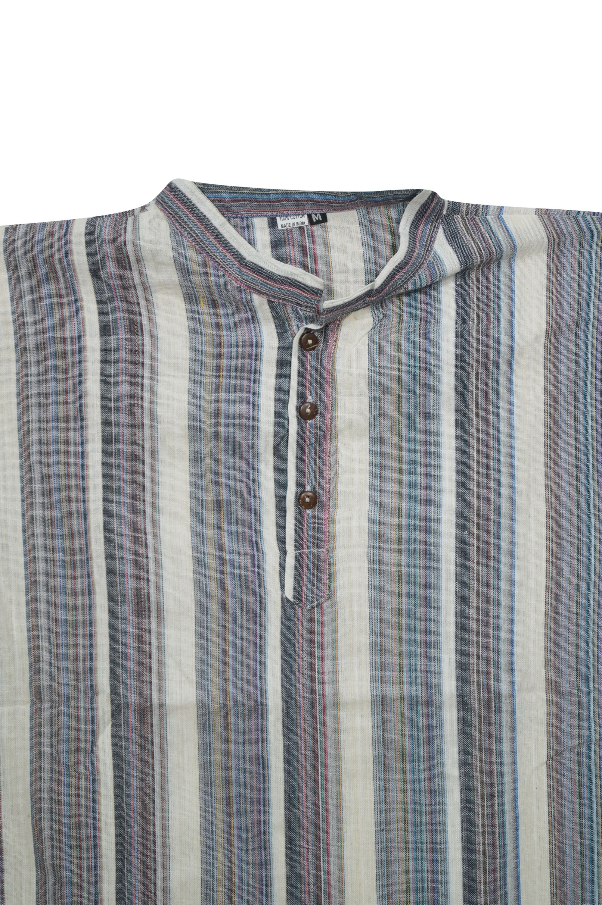 609655f846 Mogul Mens Ethnic Indian Fashion Shirt Short Kurta Trendy Cotton Tunic  Traditional Apparel L - Walmart.com