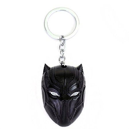Black Panther Key Chain Game Movie Flim metal mask souvenir Black