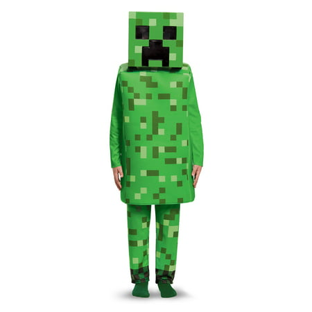 Mine Craft Halloween Costumes (Minecraft Creeper Deluxe Child)