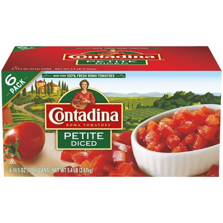(6 Pack) Contadina Petite Diced Tomatoes, 15 oz (Tomato Canned)