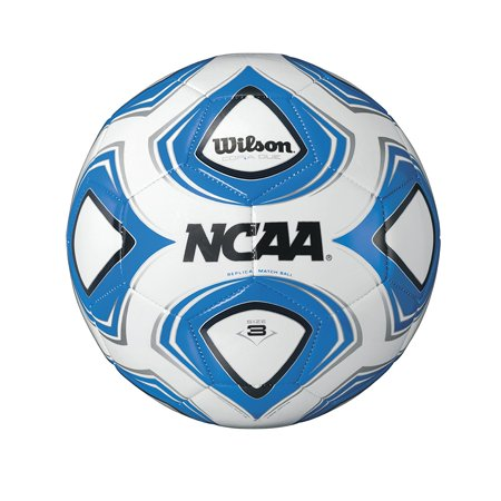 Ncaa Copia Due Replica Soccer Ball  Size 5  White Blue   Replica Design Of The Forte Fybrid  Official Ball Of The Ncaa Soccer Championships By Wilson Ship From Us