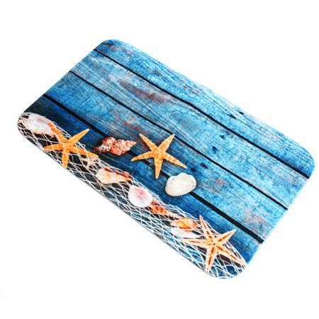 3Pcs Pedestal Rug + Lid Toilet Cover + Non-Slip Bath Mat Doormat Ocean Starfish Bathroom Set Home Decor Christmas Gift - image 6 of 8