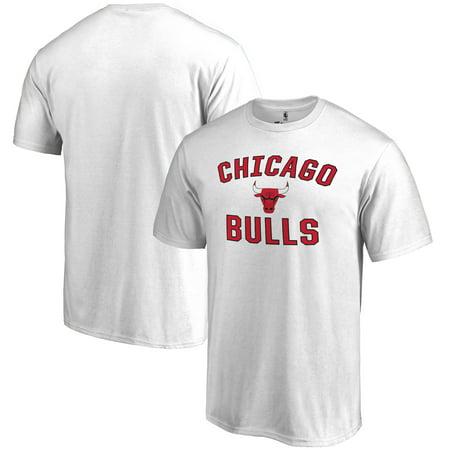 Chicago Bulls Victory Arch T-Shirt - White (Chicago Bulls Clothing)