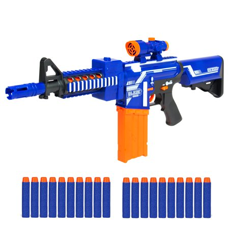 Best Choice Products Kids Soft Foam Dart Blaster Semi Automatic Toy Shooter w/ Long Distance Range, 20 Darts