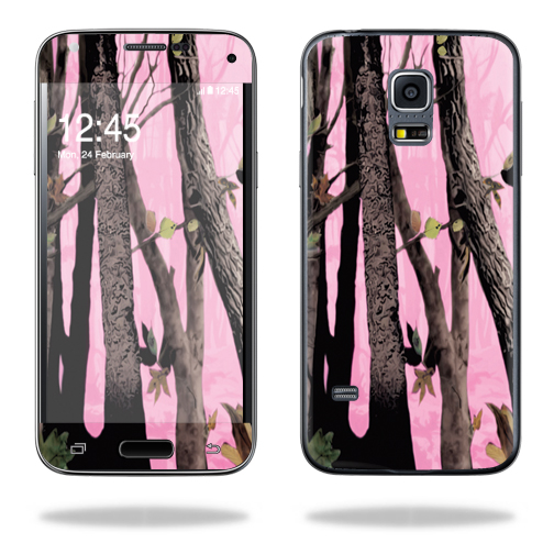Mightyskins Protective Vinyl Skin Decal Cover for Samsung Galaxy S5 Mini Cover wrap sticker skins Pink Tree Camo