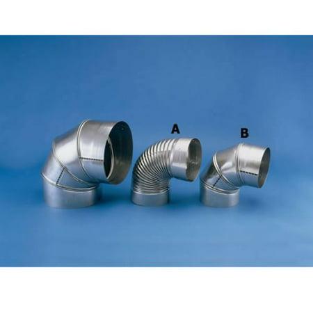 "Image of ""HeatFab 6"""" 30 Degree Corrugated Elbow Non-Adjustable"""