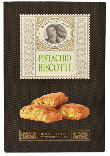 Cucina & Amore Pistachio Biscotti Cookie, 6.3 Oz by CUCINA & AMORE