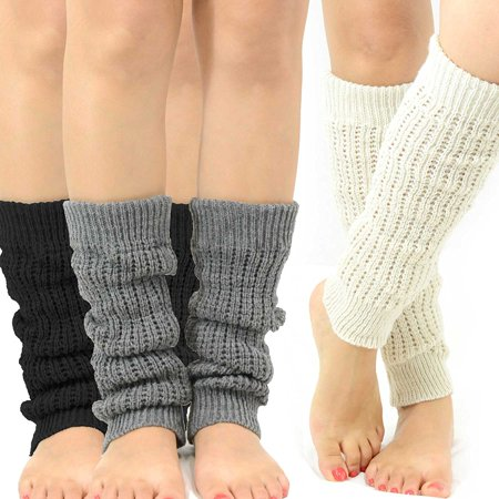 117888308 TeeHee - TeeHee Gift Box Women s Fashion Leg Warmers 3-Pack Assorted Color  - Walmart.com
