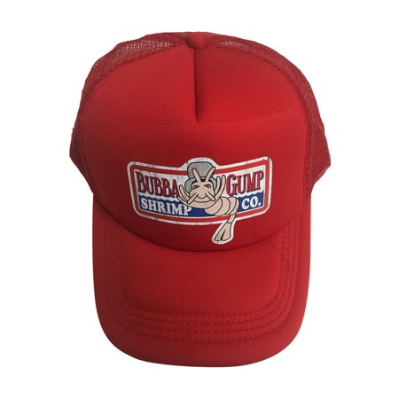 Bubba Gump Shrimp Co. Red Trucker Hat Forrest Gump Cap Costume Movie Company - Forest Gump Costumes