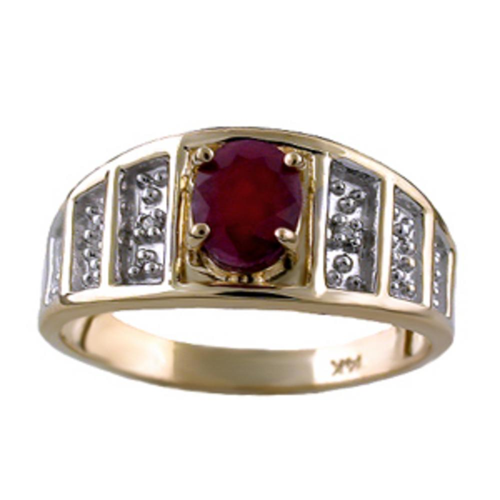 Diamond & Ruby Ring 14K Yellow Gold or 14K White Gold by Elie Int.