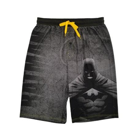 Batman DC Comics Mens Gray Pajama Sleep Shorts XX-Large](Mens Batman Onsie)