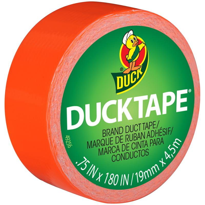"Mini Duck Tape .75"" Wide 15' Roll Orange Mdt 2328"