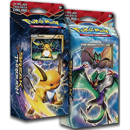 BOTH Pokemon XY8 BREAKthrough Theme Decks RAICHU & NOIVERN TCG English Card Game