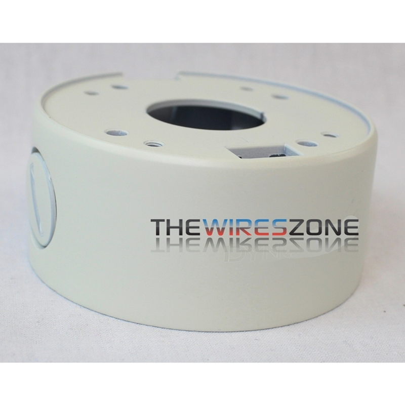 Ivory Metal Housing Base Mount Junction Box for CCTV Security Mini Dome Cameras