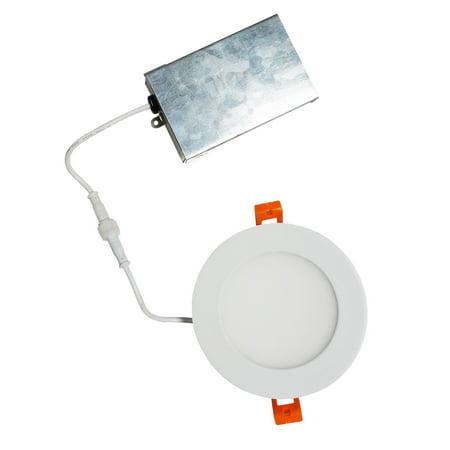 NICOR Lighting 4-Inch 5000K LED Edgelit Flat Panel Retrofit Downlight, Round (DLE4-10-120-5K-RD-WH)