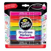 Crayola Take Note Dry Erase Markers, Various Colors, Office & School Supplies, 12 Count