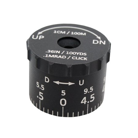Sightron Tactical Turrets 0.1 MRAD Click Value, 9.5 MRAD White Engraving,