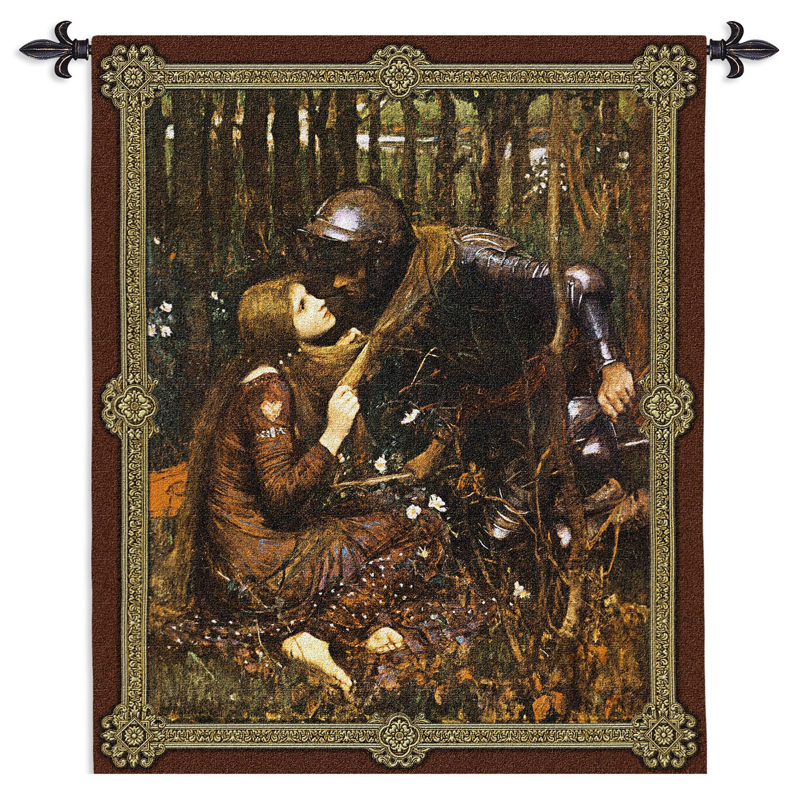 Click here to buy Fine Art Tapestries La Belle Dame Sans Merci Waterhouse Wall Tapestry by Supplier Generic.