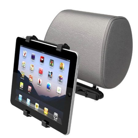 Car Headrest Mount Tablet Holder Swivel Cradle Back Seat Dock Stand Kit Black Zqa For Amazon Fire Kids Edition  Kindle   Ipad 2 3   Asus Google Nexus 2 7   Barnes   Noble Nook Color Hd Hd