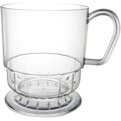Disposable Coffee Mugs, Clear (Pack of 10)