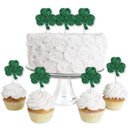St Patricks Day Desserts (St. Patrick's Day - Dessert Cupcake Toppers - Saint Patty's Day Party Clear Treat Picks - Set of)