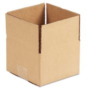 General Supply Brown Corrugated - Fixed-Depth Shipping Boxes, 6l x 6w x 4h, 25/Bundle -UFS664