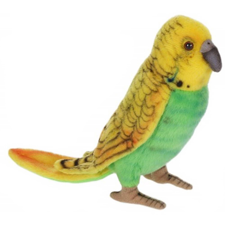 Hansa Yellow and Green Parakeet Plush Toy